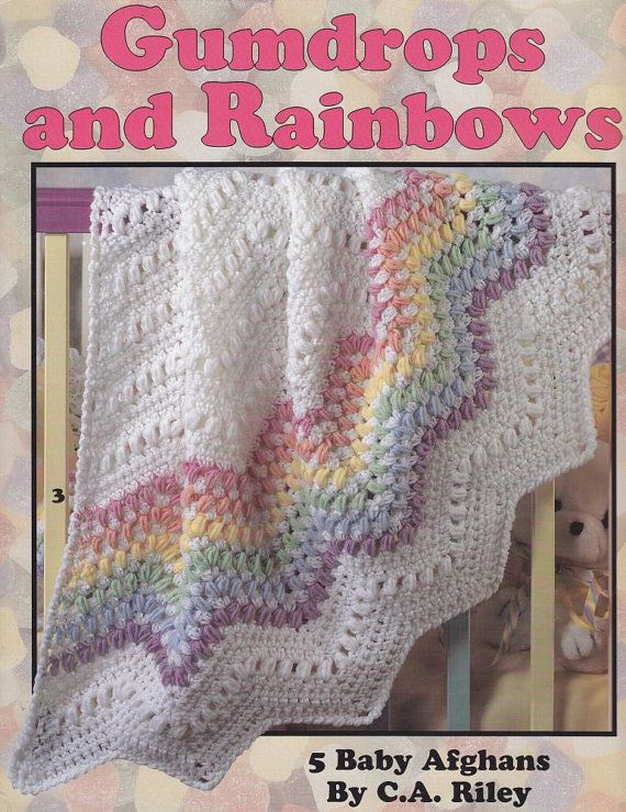 Baby Afghan Crochet Patterns - Gumdrops and Rainbows - I love this ...