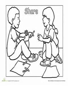 preschool good manners coloring pages - photo#2