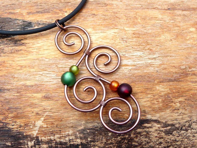 Ketten kurz - Halskette ♥ Aotearoa ♥ aus Kupferdraht - ein ...