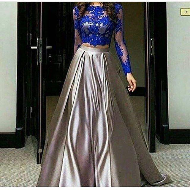 اذا عجبك الفستان نتشرف باستفسارك واتس اب 00966570145266 نشر لايكات تباد Long Sleeve Lace Evening Dress Long Sleeve Dress Formal Two Piece Formal Dresses