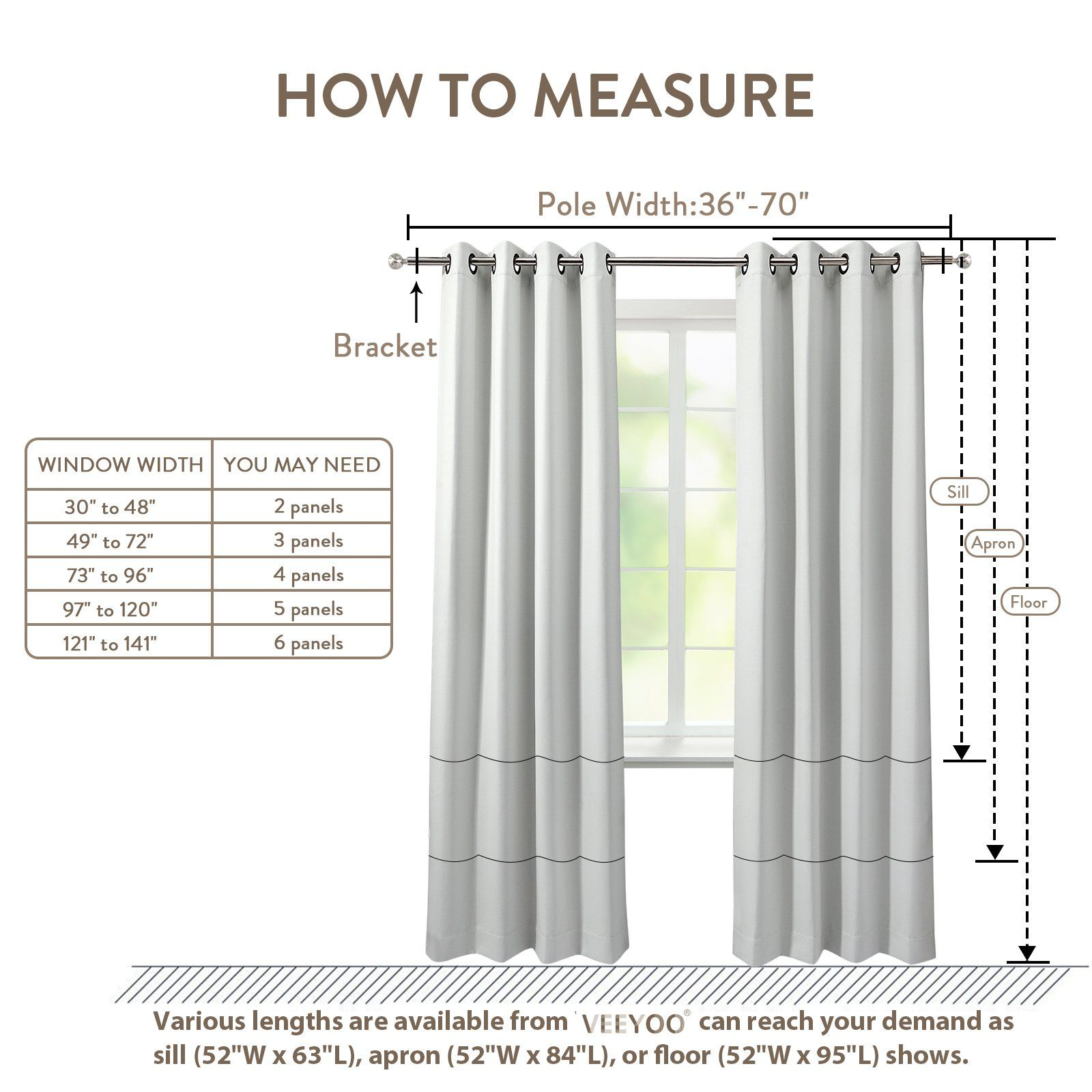 veeyoo thermal insulated curtains