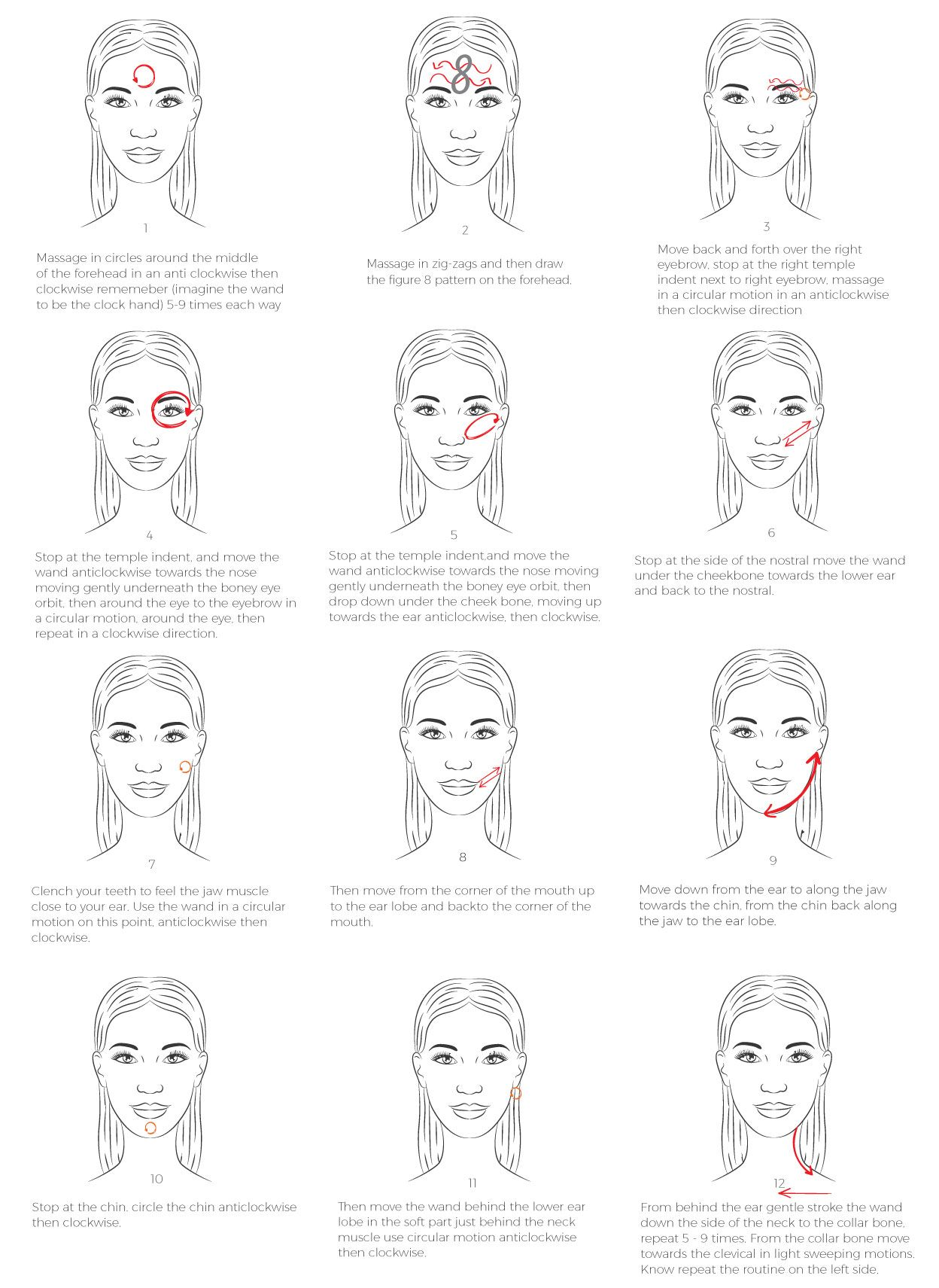 How To Massage Yourself To Relieve Stress   Facial massage ...