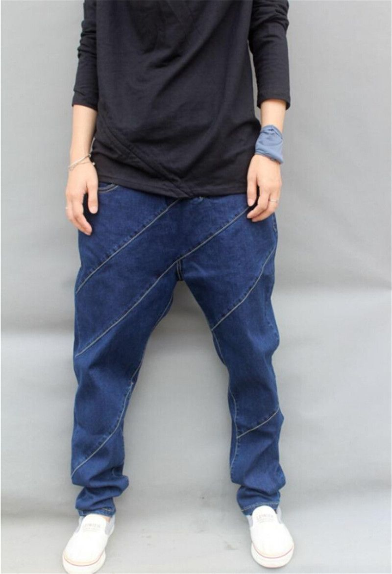 dcb0a0412334c men Denim harem pants plus size pants male hip-hop pants jeans men skinny  trousers New 2015 Big Size M