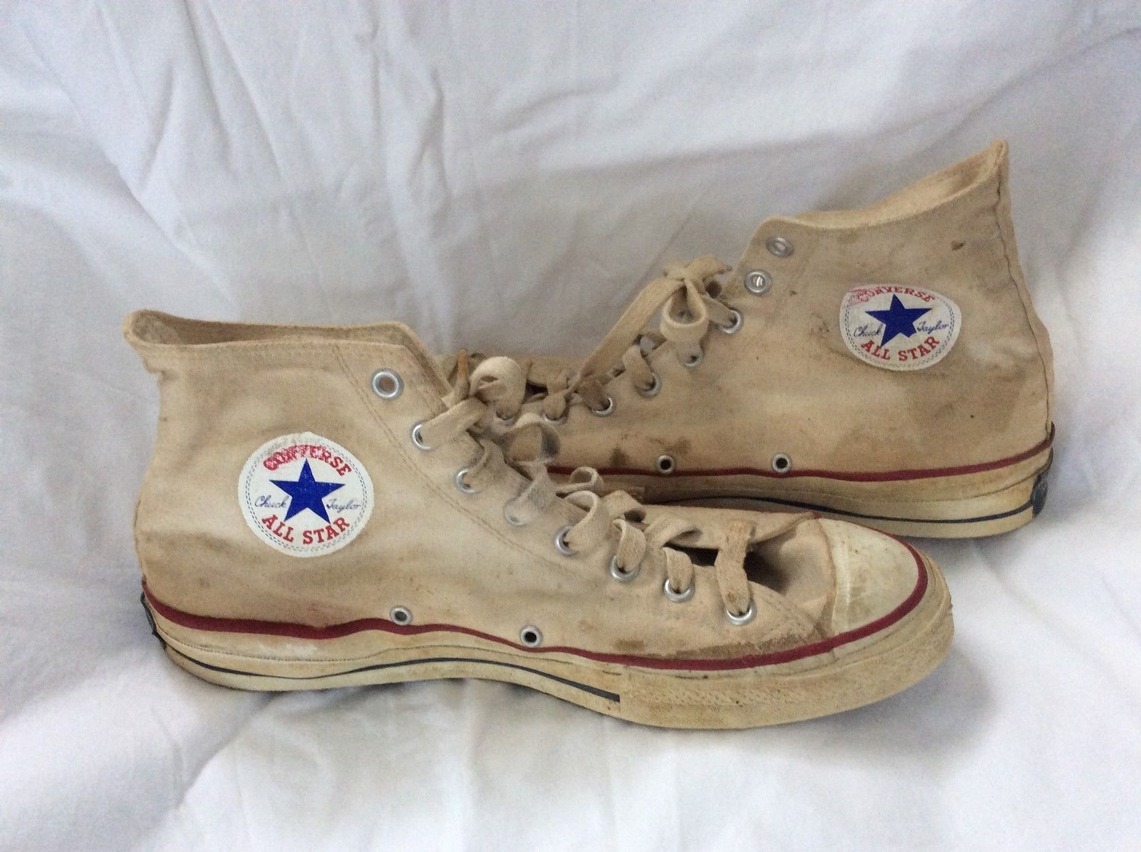 b2357c0eb81b Vintage Converse Chuck Taylor BLUE LABEL 1960s High-Top Sneakers USA Made  Shoes