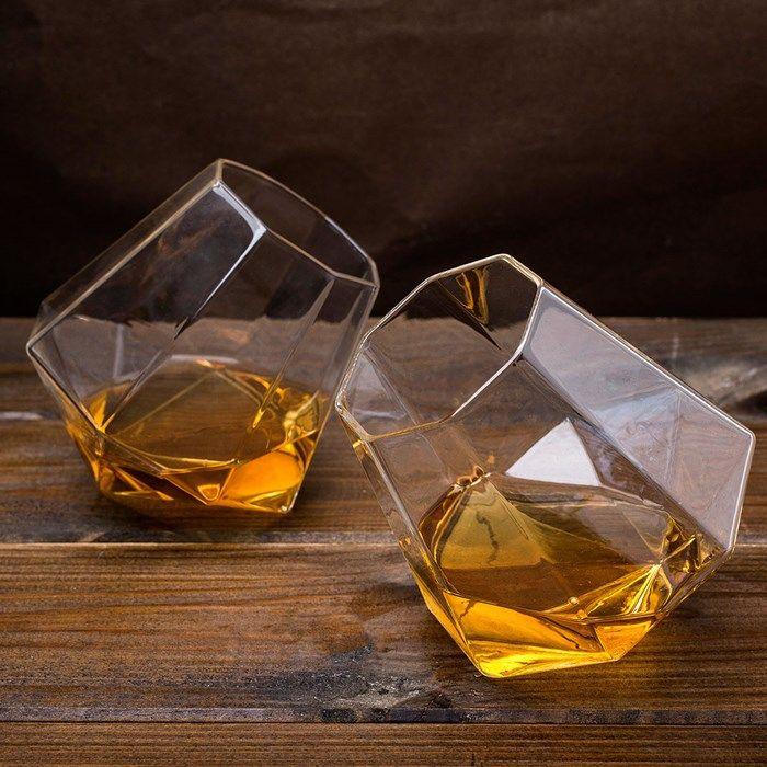 diamond whiskey glasses set spirit tumblers liqueur vodka gift bar drinks luxury in home furniture u0026 diy cookware dining u0026 bar glassware - Whiskey Glass Set
