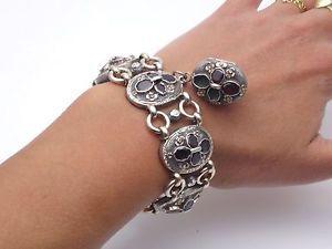 bijoux ancien en argent massif femme