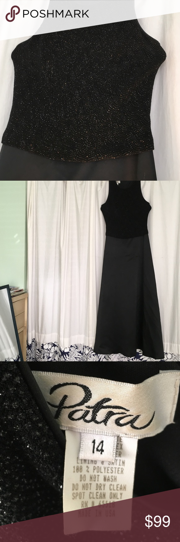 Patra Evening Gown Black Size 14 | Full length dresses, Bodice and ...