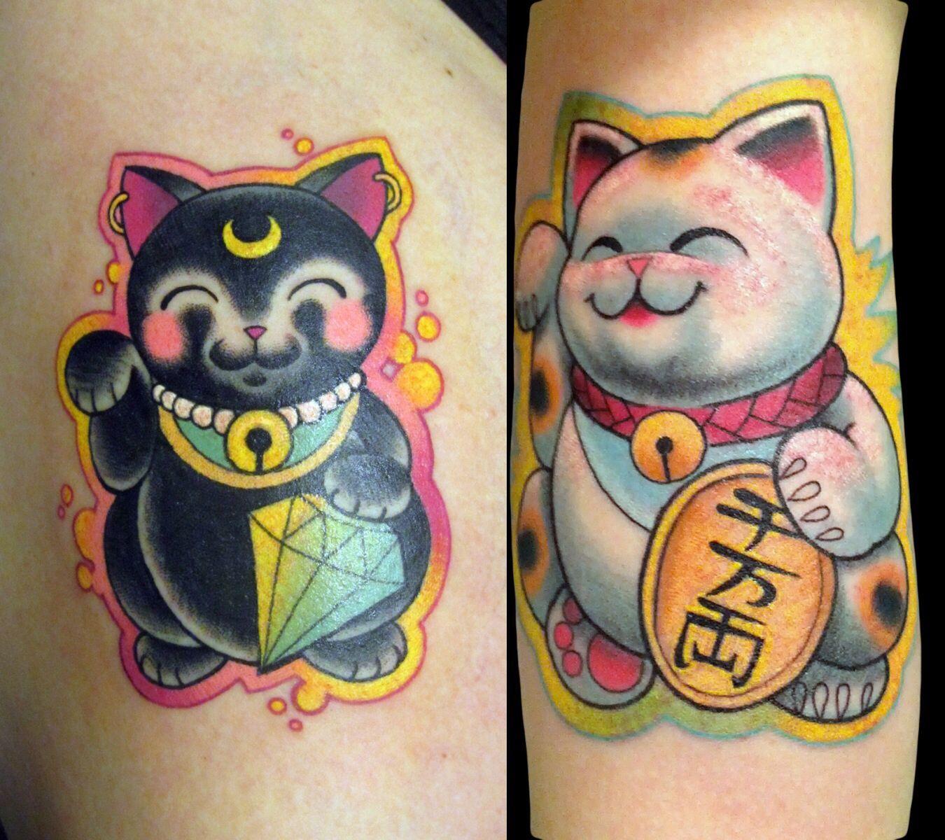 maneki neko tattoos by morgan macdonald at seven crowns tattoo in toronto tattoo ideas. Black Bedroom Furniture Sets. Home Design Ideas