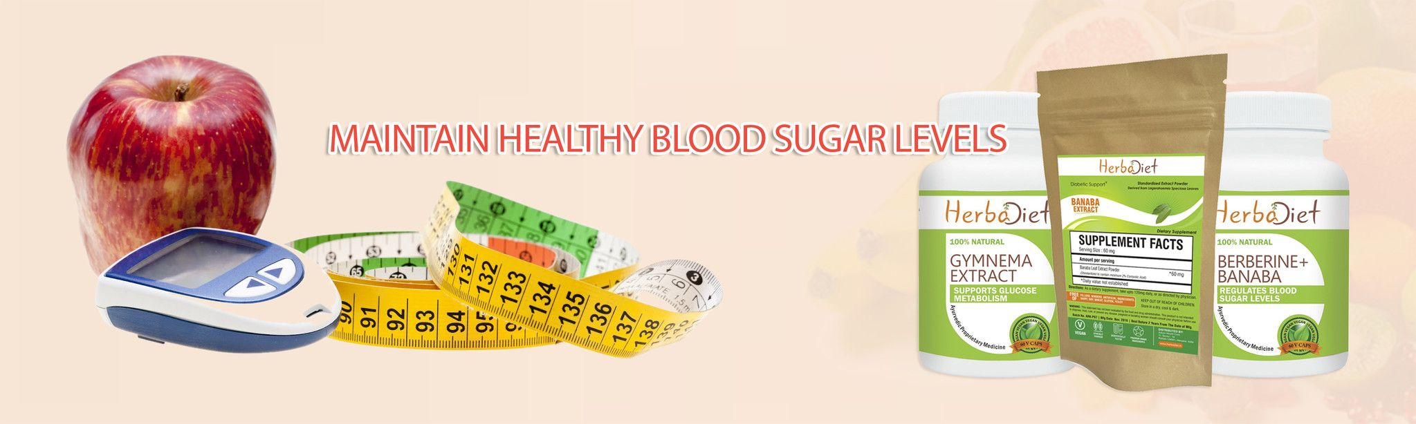 Are you suffering from diabetes? No need to worry, we are here to help you! Herbadiet is offering natural herbal supplements for diabetes at very low cost. To know more about to maintain sugar level please visit at https://www.herbadiet.in/collections/diabetic-support