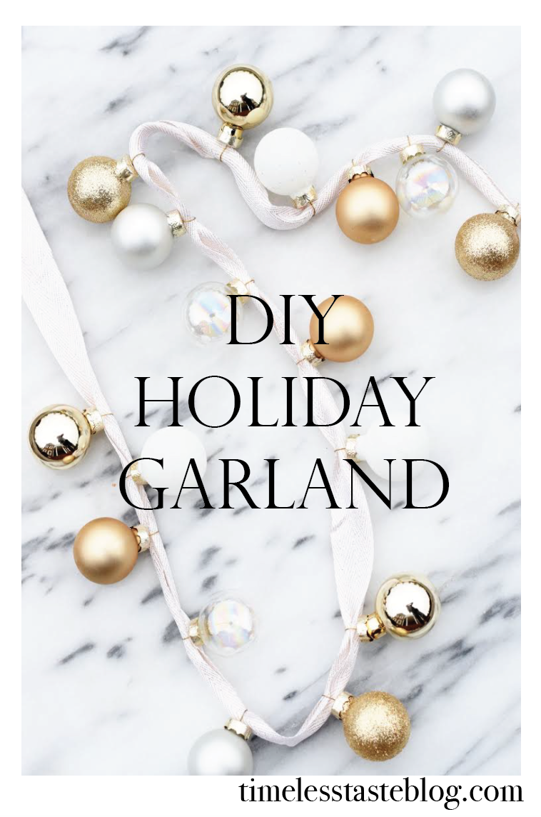 Inexpensive and easy DIY Holiday Garland using the Sugar Paper LA for Target holiday collection. @TimelessTasteBlog