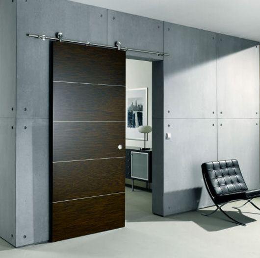 interesantes diseos de puertas correderas interiores - Puertas Correderas Interiores