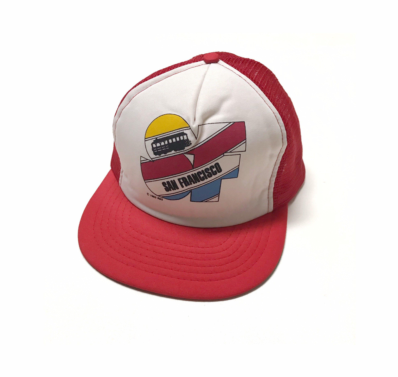 Vintage 80s Souvenir Trucker Hat Cap San Francisco California Etsy Vintage Trucker Hats Trucker Hat San Francisco Hat