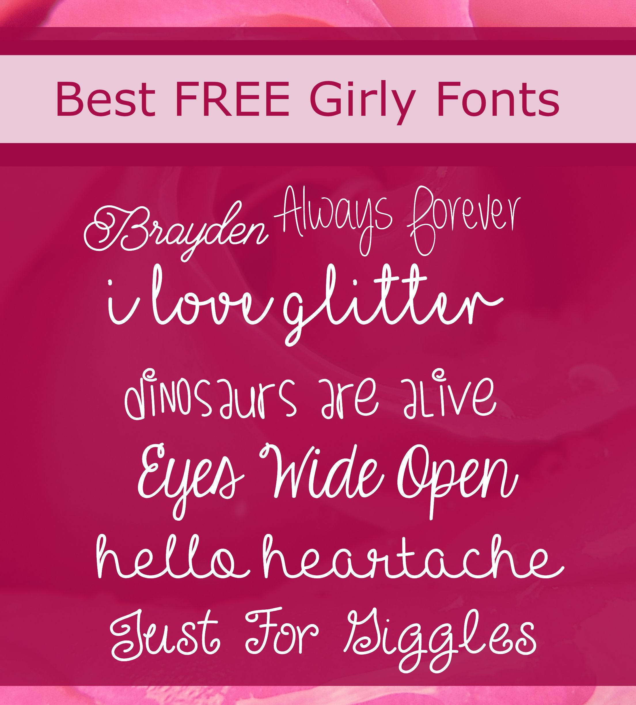 Best Free Girly Fonts