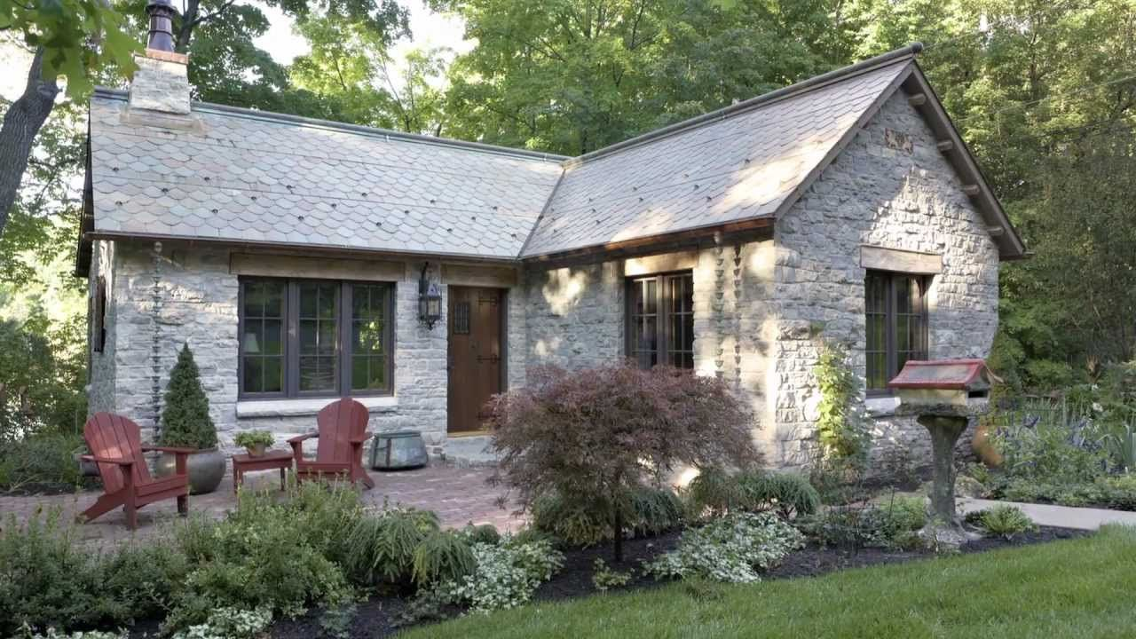 Old 1900 S Log Gatehouse Reinvented As An English Style Limestone Cottage Trends Home Renovati Cottage House Plans House Designs Exterior Tiny Cottage Design