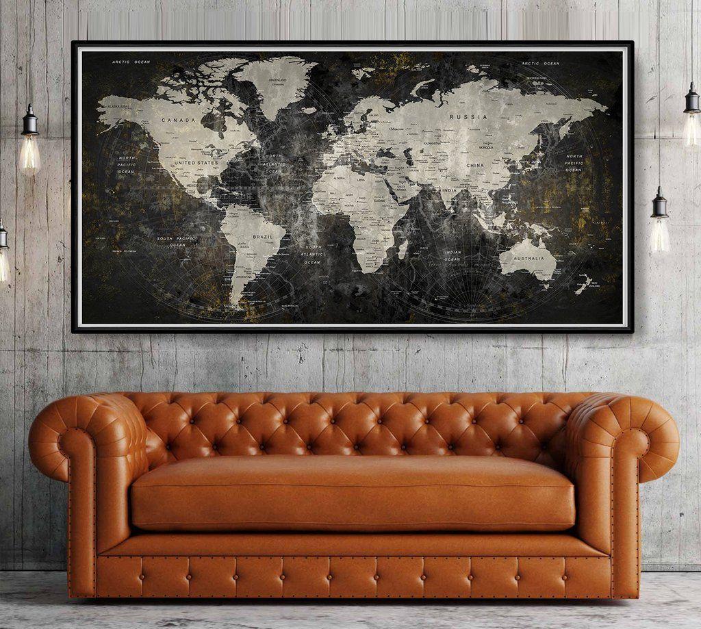 Adventure awaits world map poster large world map travel map