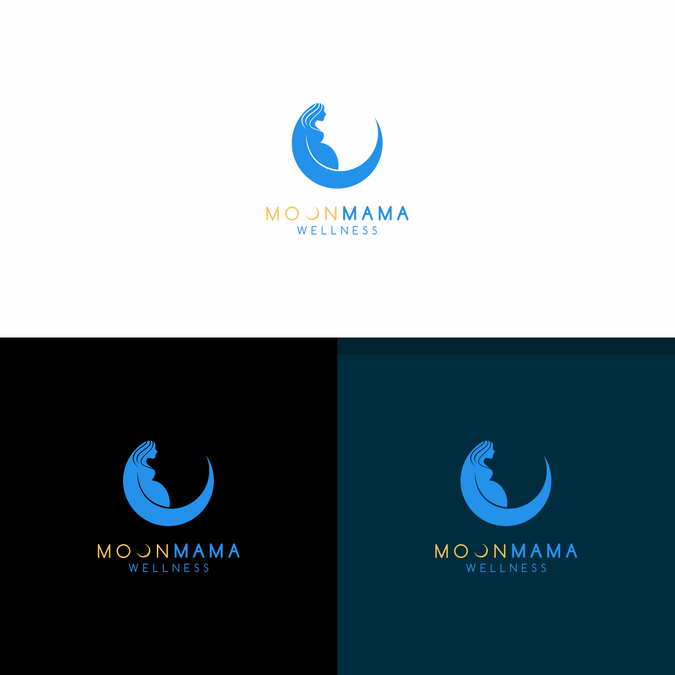 Create a captivating logo for MoonMama Wellness by Marie Curie