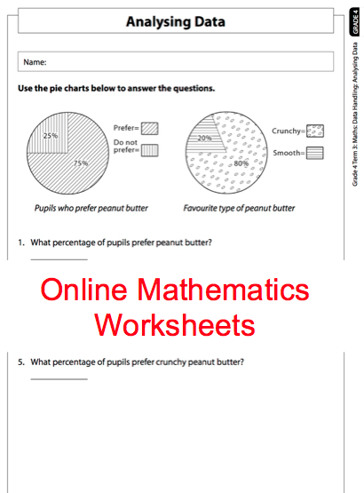 Grade 4 Online Mathematics Worksheet Data handling. For more ...