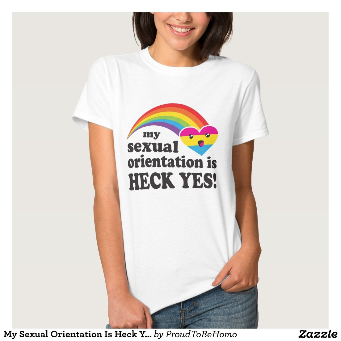 Design your own t shirt zazzle - My Sexual Orientation Is Heck Yes Pansexual Lgbt T Shirts