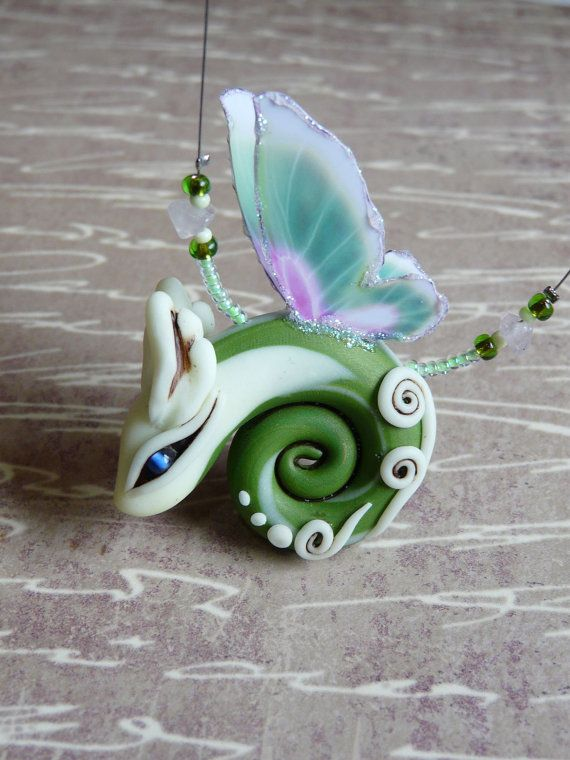 Lotus Pond Whirr Fairy Dragon necklace glows by SecretGardenTales, $54.60  TEAMPINTEREST