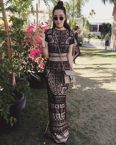 Claudia Salinas - Ray Ban Sunnies, Zara Slip Dress, Dr