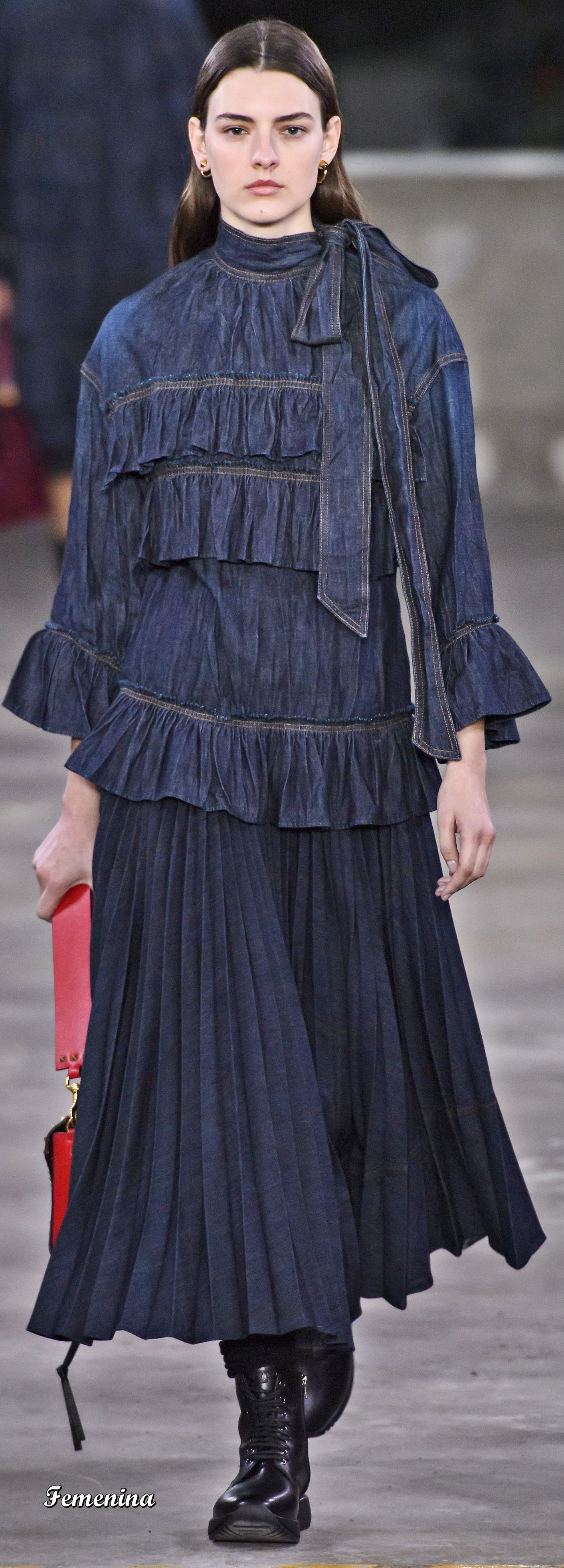 Fall Fashion With Jeans Dress 2020, Ideas, Picture Valentino Pre Fall/Winter 2019 2020 | Denim clothing in 2019