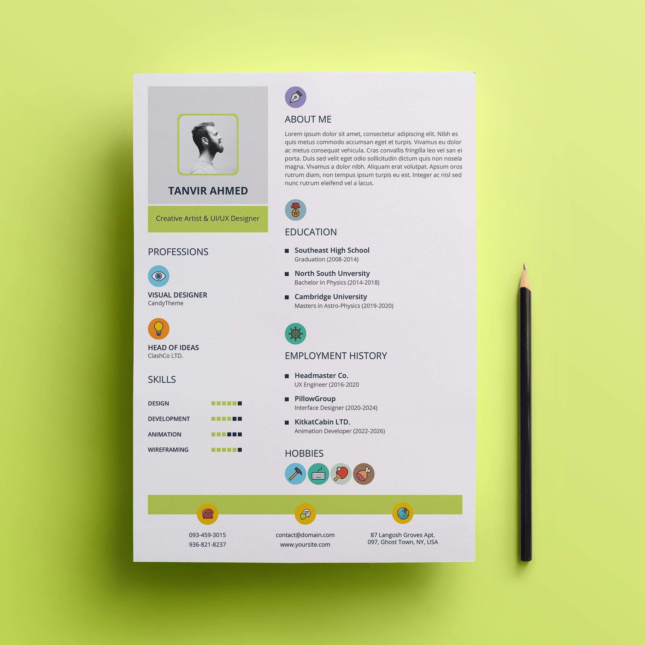 Creative Resume Template Creative resume templates