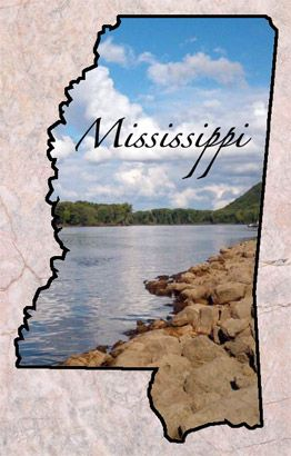 "Mississippi   Entered the Union: Dec. 10, 1817 (20)	Capital: Jackson Origin of Name: From an Indian word meaning ""Father of Waters"" State Nicknames: Magnolia State State Motto: Virtute et armis (By valor and arms) State Bird: Mockingbird	State Tree: Magnolia State Flower: Magnolia	State Mammal: White-tailed Deer State Waterfowl: Wood Duck	State Song: ""Go, Mississippi"" National Forests: 3 • State Parks: 24 Famous for: Mississippi River Boats, pre-Civil War mansions"