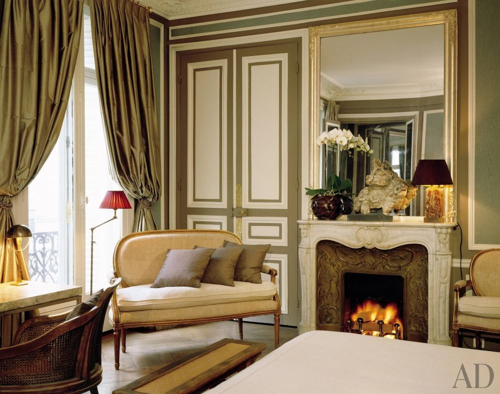 Bedroom sitting area traditional bedroom jan showers - Traditional Bedroom By Christopher Noto In Paris France