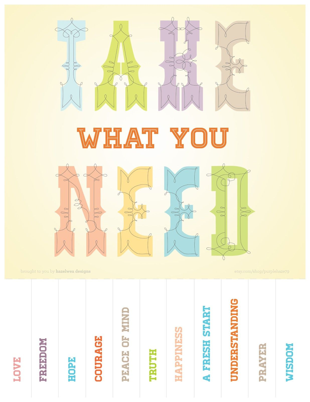 picture relating to Take What You Need Printable identified as Free of charge printable \