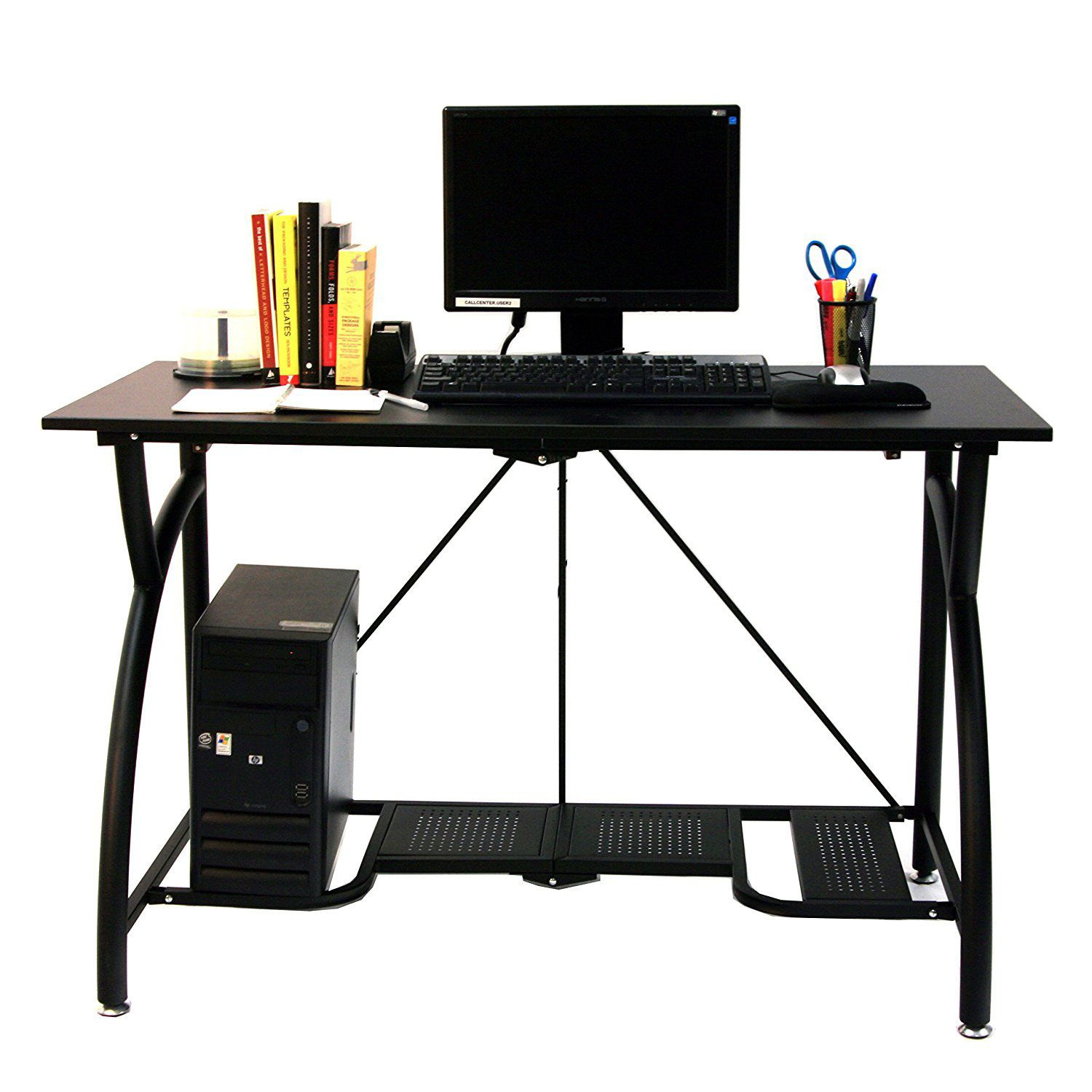 Origami Foldable Computer Desk In Black It S Easy To Fold Up And Store Can Hold All Of You Best Home Office Desk Folding Computer Desk Computer Desks For Home