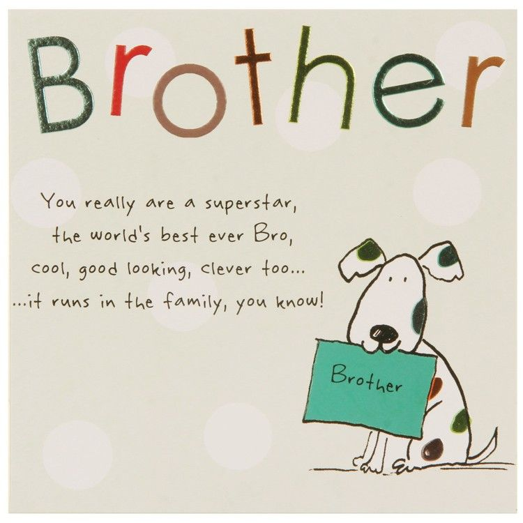 brother birthday cards Google Search CARDS – Brothers Birthday Card