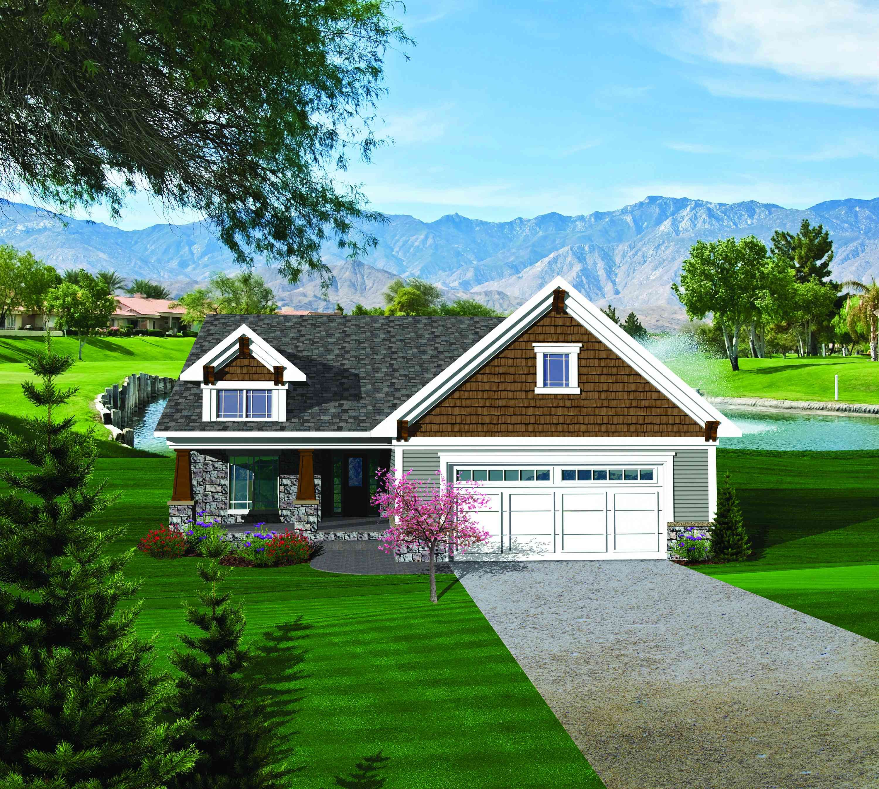 Easy To Build 2 Bed Home Plan   89819AH | Craftsman, Northwest, Ranch,  Narrow Lot, 1st Floor Master Suite, Butler Walk In Pantry, CAD Available,  PDF, ...