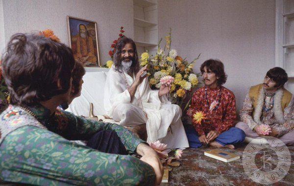 with Maharishi Mahesh Yogi, 1967.