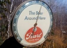 Vintage Rare 1961 Pearl Beer San Antonio Texas 12 in  Glass Thermometer Sign