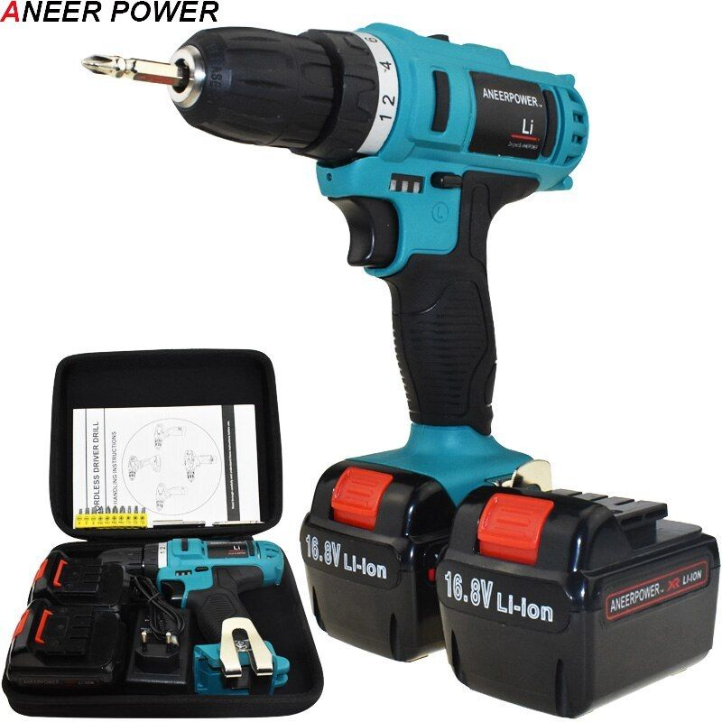 1 5ah Battery Capacity Drill Electric Screwdriver Power Tools Electric Drill Batteries Screwdriver Mini 16 8v Cordless Drill Drill Cordless Drill Electric Drill
