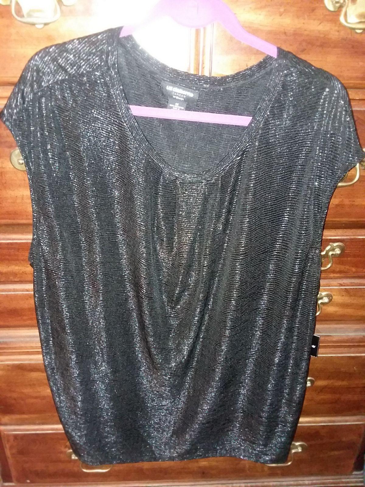 Short sleeve Size 1x NWT BLACK