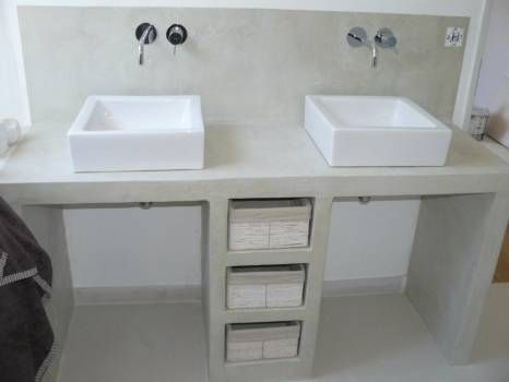 Cuisine Siporex/Béton ciré Interiors and Kitchens - fabriquer meuble en placo