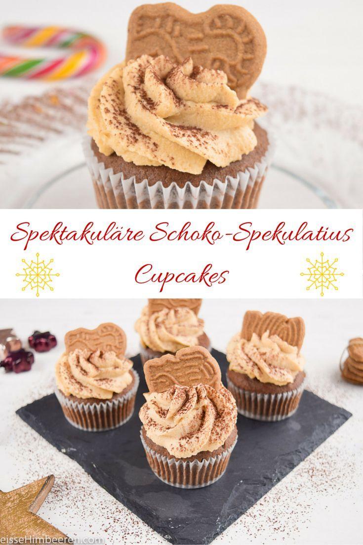 Spektakuläre Schoko-Spekulatius Cupcakes #chocolatecupcakes