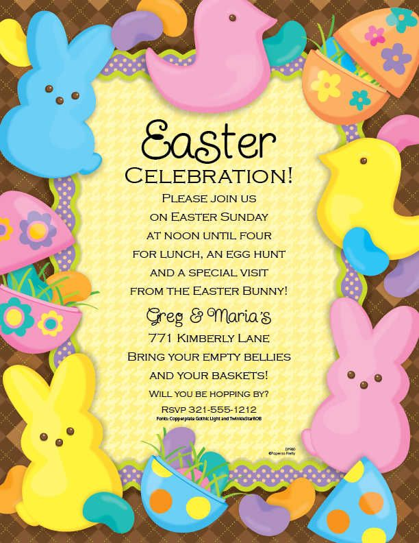 Pin by heather huyghe on easter party pinterest easter party easter invitations template funny easter celebration invitations e card design sample with stopboris Image collections