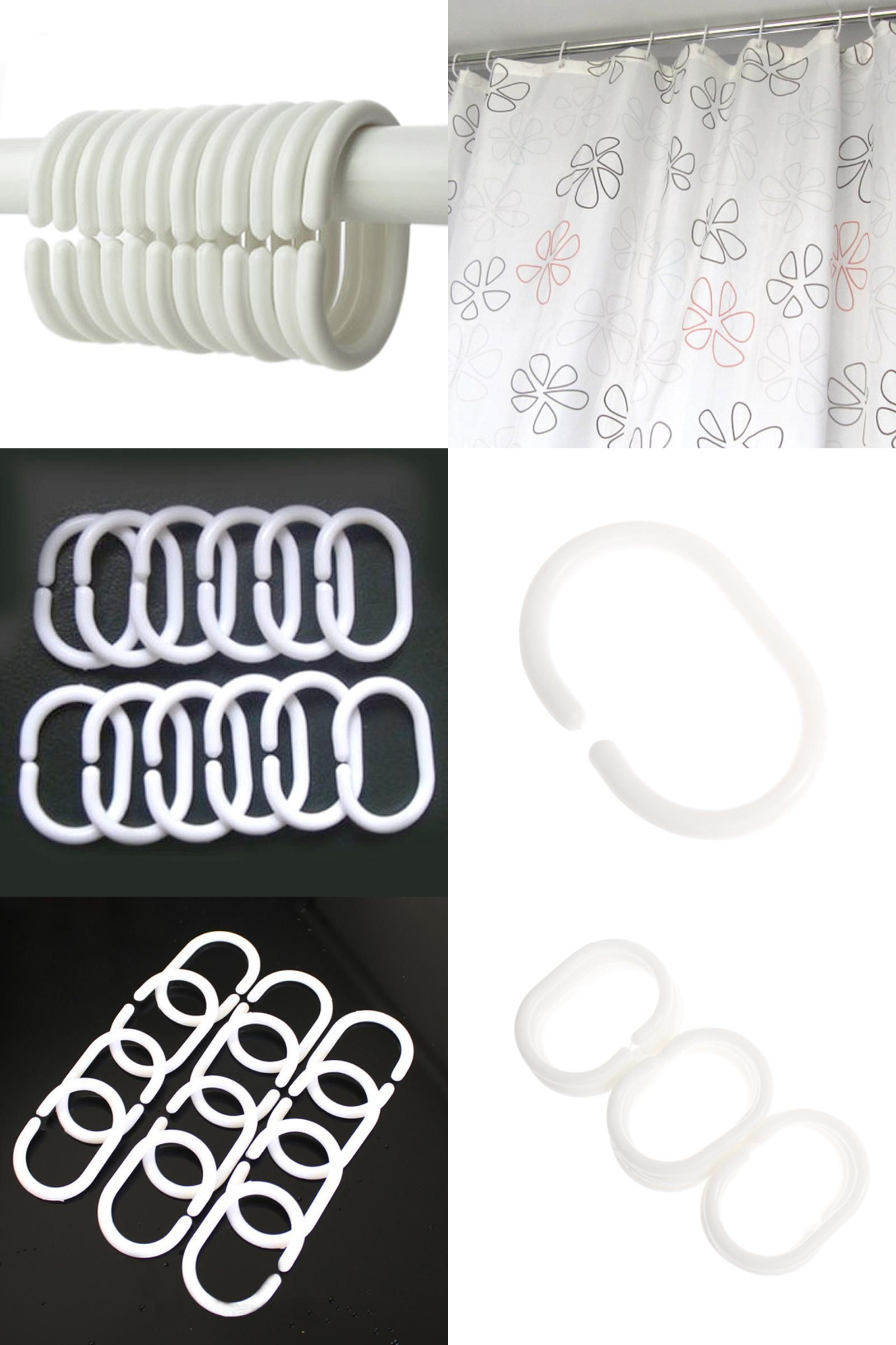 Visit To Buy 12pcs Pack New Plastic Shower Curtain Hook Hanger