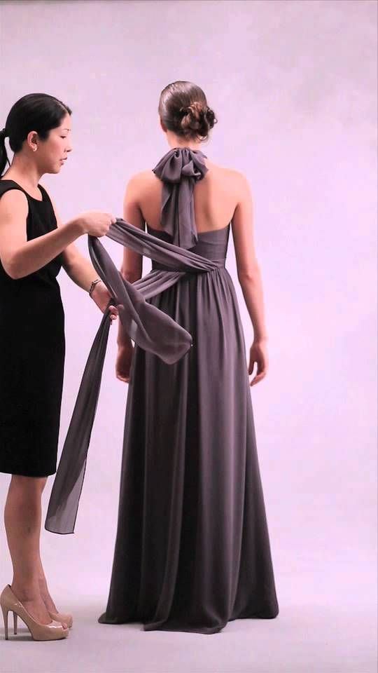 Nabi Dress-Style 2 (Classic Halter w/ Front Tied Sash/Bow) | How To ...