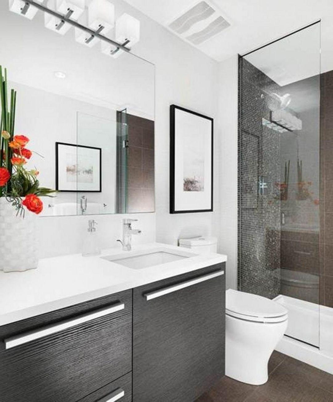 25 Attractive Modern Small Bathroom Designs For Awesome Home Bathroom Design Small Modern Modern Small Bathrooms Bathroom Renovation Small Space