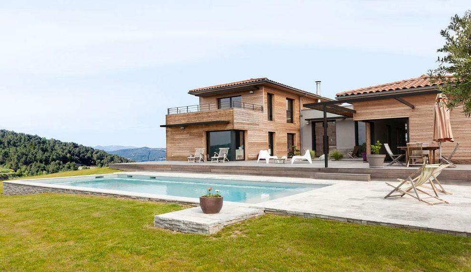 Extrêmement Superbe maison bois contemporaine designée par un architecte d  JT85