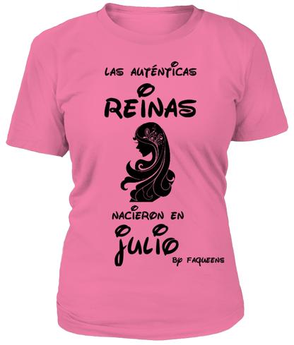 camiseta faqueens las autenticas reinas nacieron en julio  fashion ... 262a71a3dae9c
