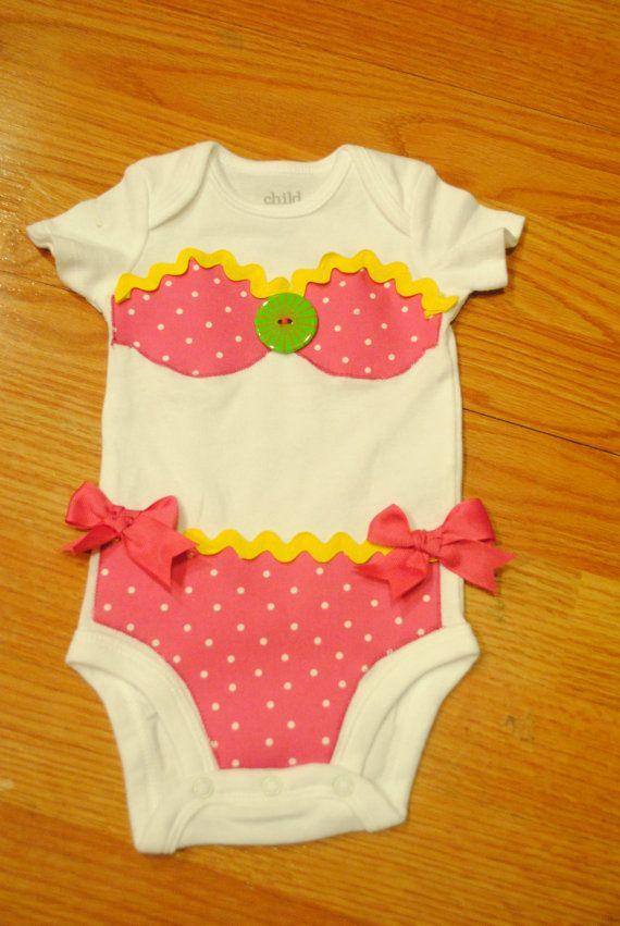 Bikini Applique Bodysuit/Infant One Piece by BittyBundlesofJoy, $25.00