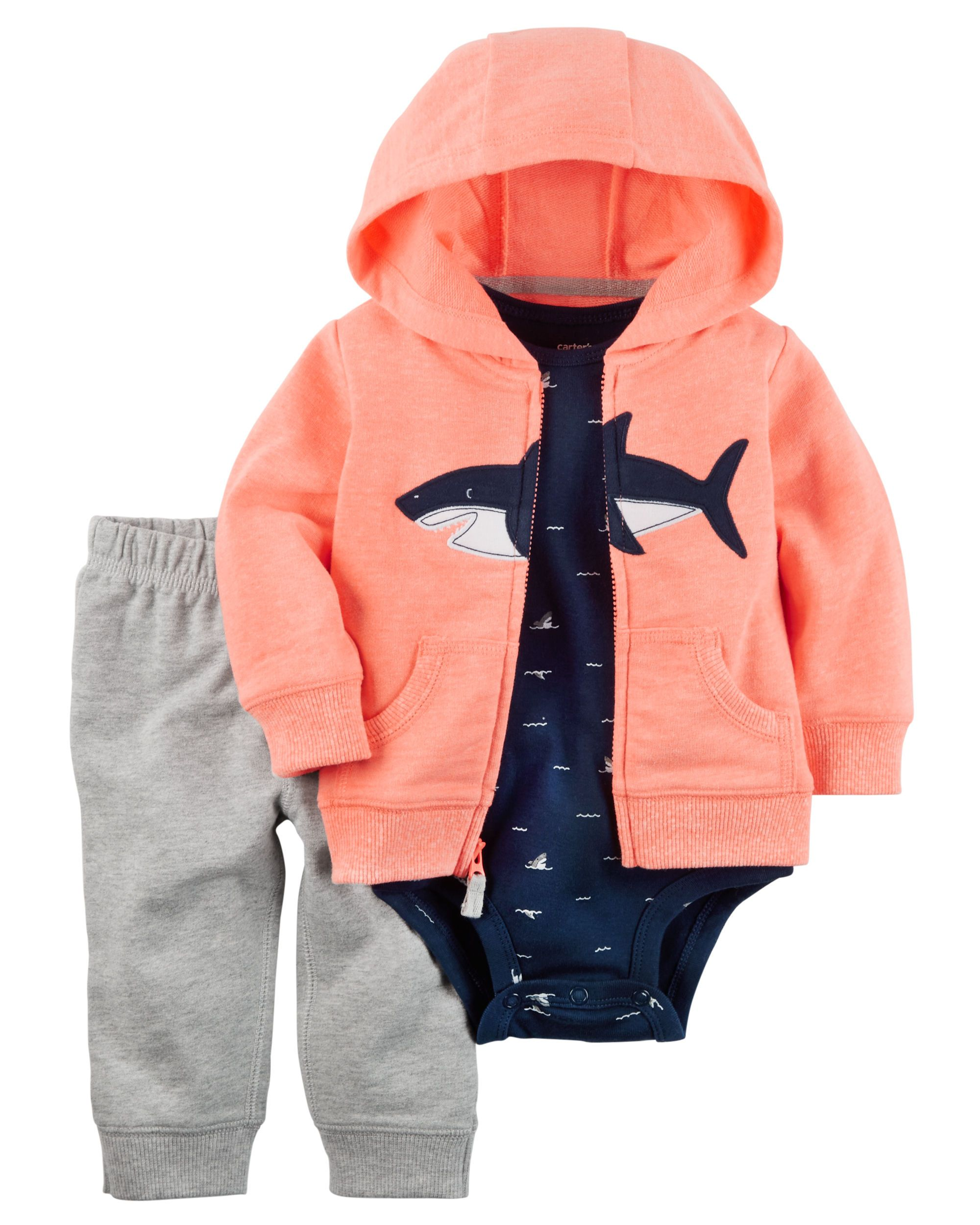 15033f66d Baby Boy 3-Piece Neon Little Jacket Set Designed for all-day play, dressing  is easy with this ready-to-wear matching set. Featuring a zip-up French  terry ...