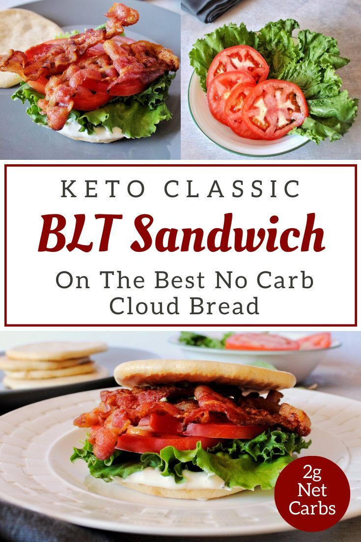 Keto BLT Sandwich Recipe On The Best No Carb Cloud Bread We use our favorite no carb cloud bread in