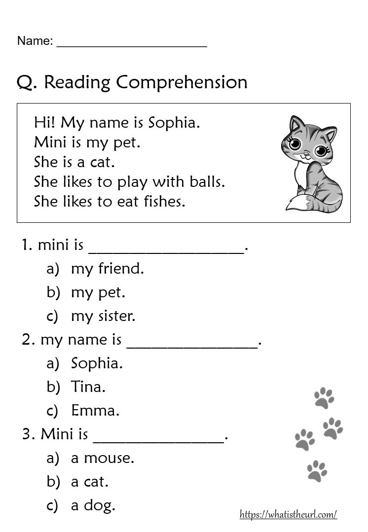 small resolution of 5+ Reading Comprehension worksheets for Grade 1   Reading comprehension  worksheets