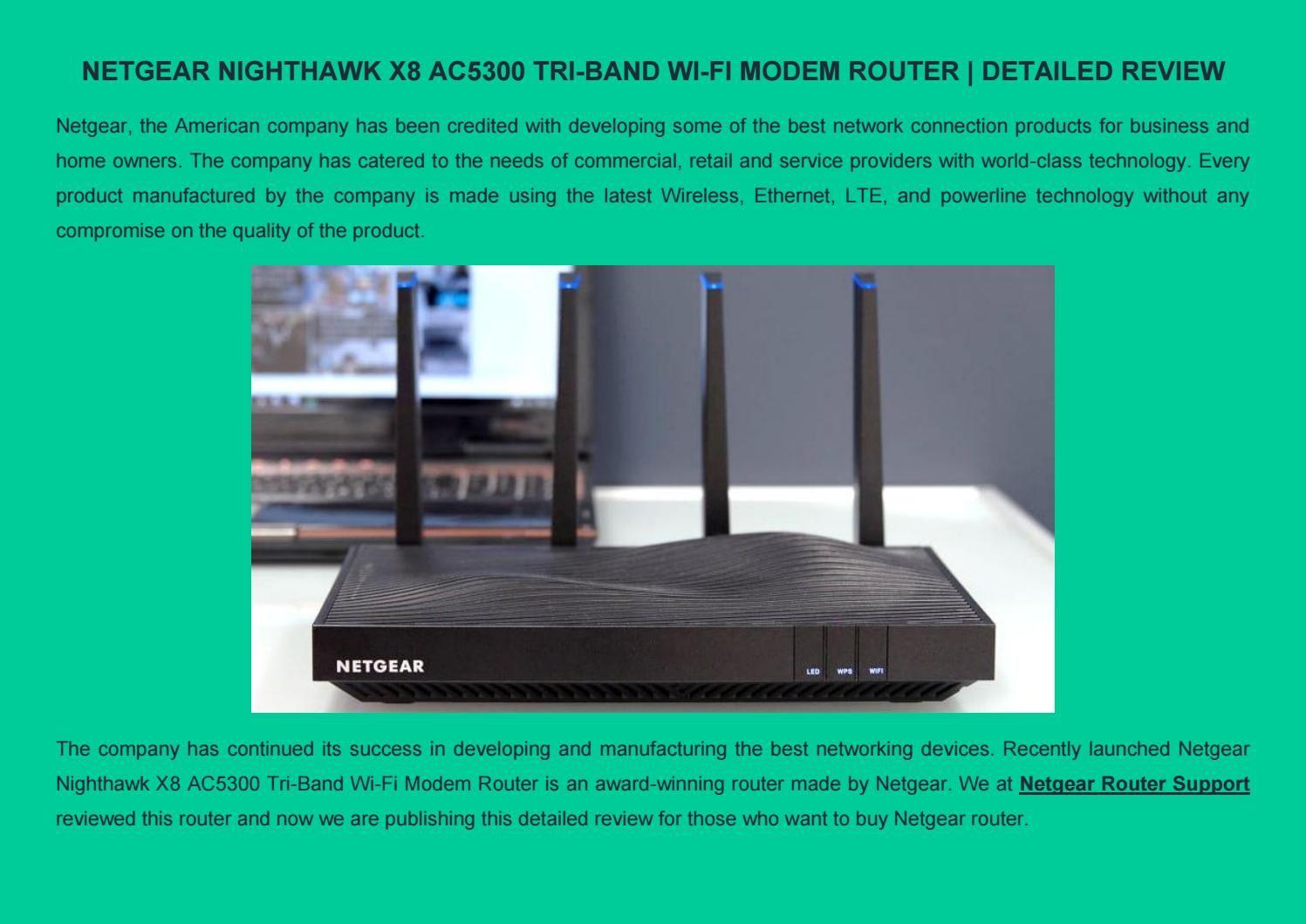 Netgear Nighthawk X8 AC5300 TriBand WiFi Modem Router