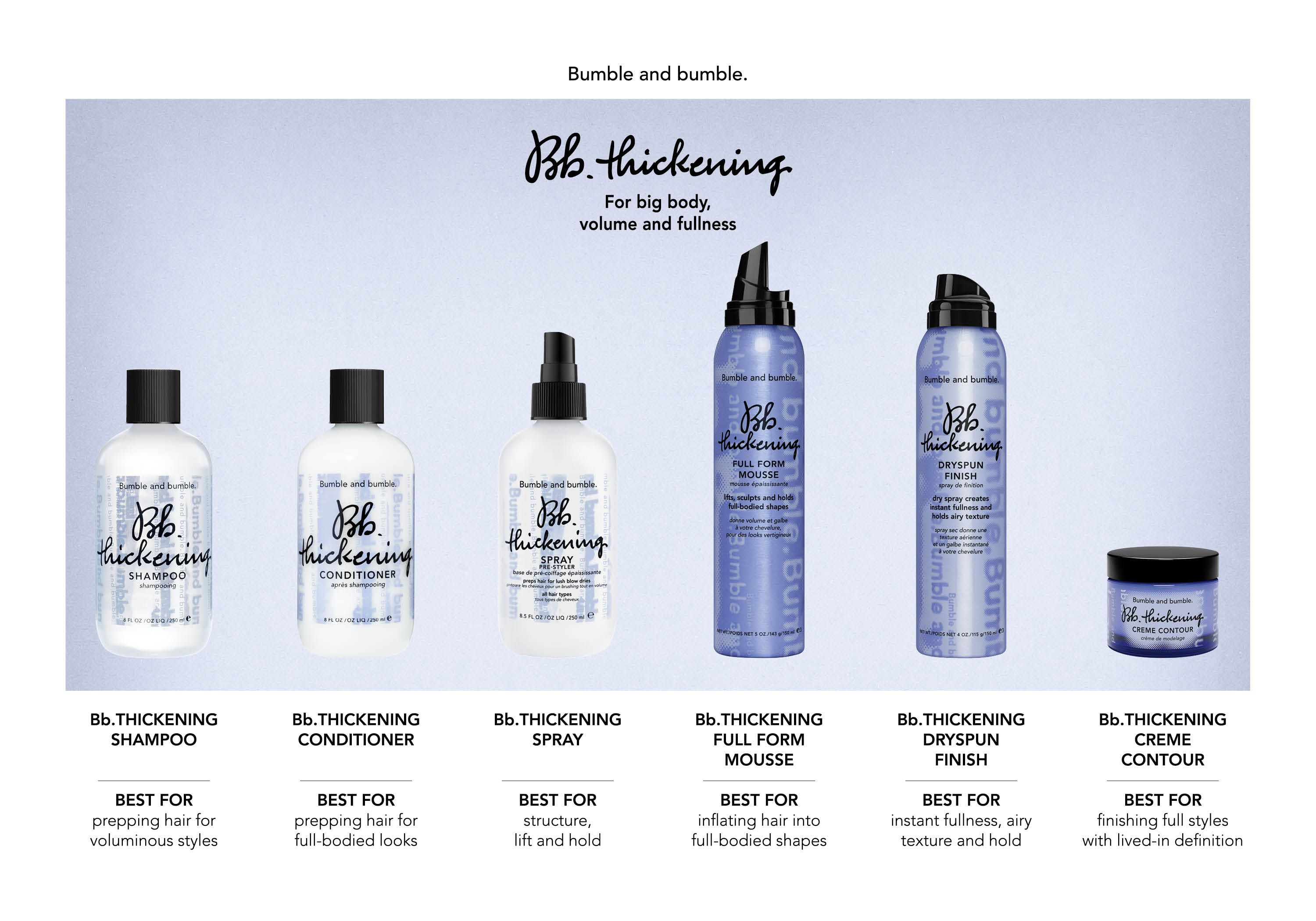 21877 Thk Family Chart Final 1 Jpg 3 000 2 100 Pixels Thickening Shampoo Shampoo Bumble And Bumble